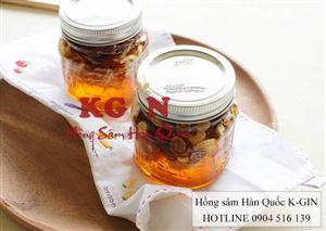 Hũ nhân sâm tươi ngâm mật ong Hàn Quốc nhà làm