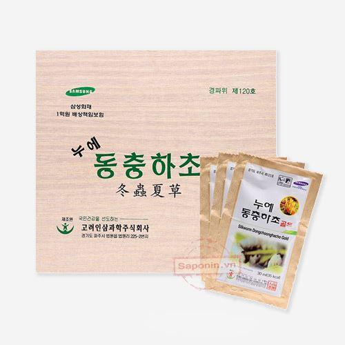 Đông trùng hạ thảo Hộp gỗ 60 gói Hàn Quốc