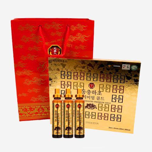 Tinh chất Đông trùng hạ thảo Premium Gold Hàn Quốc