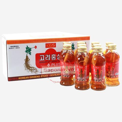 Hồng sâm nguyên củ dạng chai nước Hàn Quốc 10 chai 1200ml
